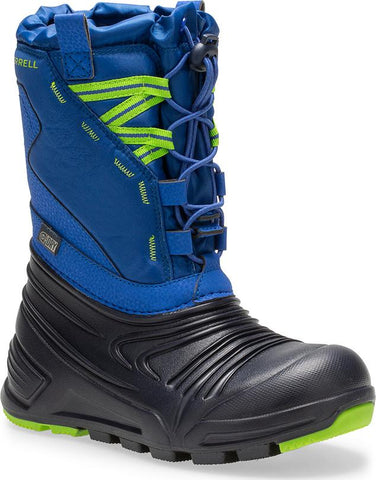 Merrell Snow Boot - SnowQuest Lite 2.0 Blue with Green Laces