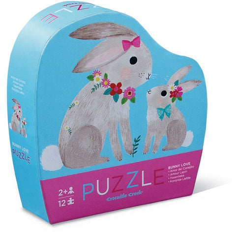 12 Piece Mini Jigsaw Puzzle - Bunny Love