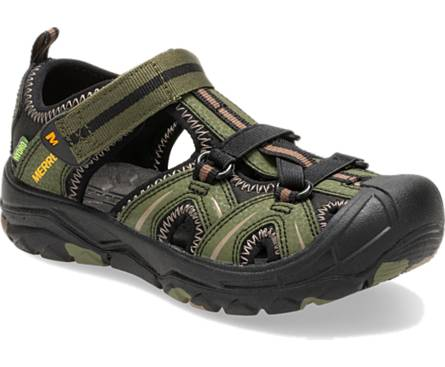 Merrell Hydro Closed Toe Water Friendly Sandal - Olive / Camo
