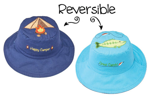 Sold Out Camping   Fish Reversible Sun Hat 26b1df37e1d