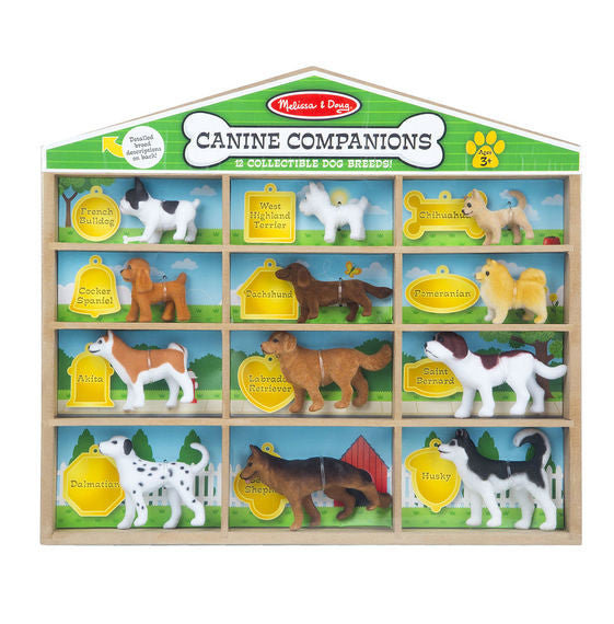 Canine Companions - 12 Collectible Dog Figures