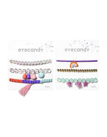 Eyecandy 3 Pack Bracelets with Charms
