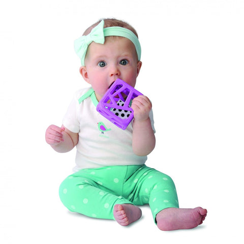 Chew Cube - Easy Grip Teether Rattle by Malarkey Kids