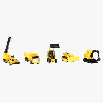 5 Piece Set of Die Cast Construction Vehicles - Pull Back