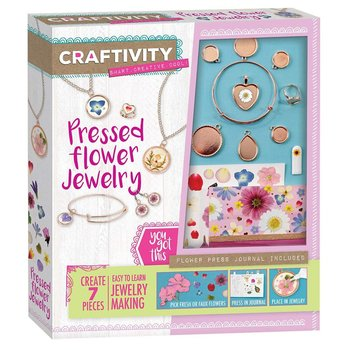 Craftivity Pressed Flower Jewelry Making Set