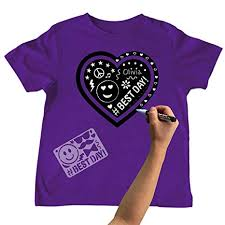 Chalk of the Town Chalkboard T-Shirts - Purple Heart
