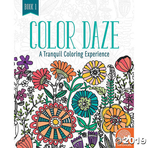 Colour Daze - Tranquil Patterns Colouring Book for Ages 6+