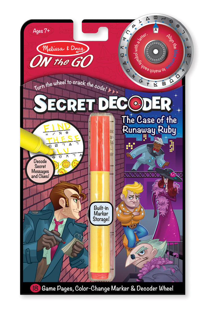 "Secret Decoder Game Book ""The Case of the Runaway Ruby"""
