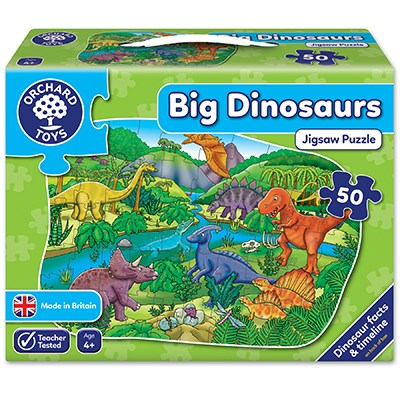 Big Dinosaurs Jigsaw Puzzle Orchard Toys - 4 Years +