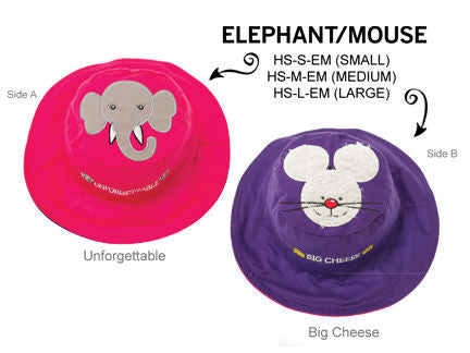 Luvali Elephant / Mouse Reversible Sun Hat