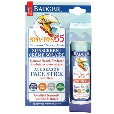 Badger Face Stick SPF 35