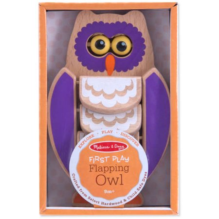 Melissa and Doug Explore-Play-Discover - Flapping Owl - 9M +