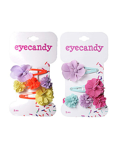 Eyecandy 3 Pack Flower Clips and Elastic