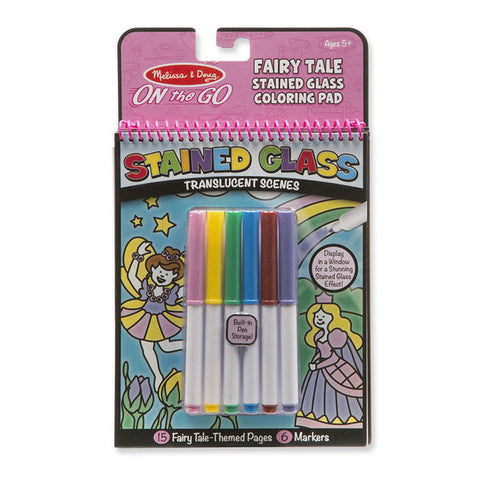 FairyTale Stained Glass colouring pad