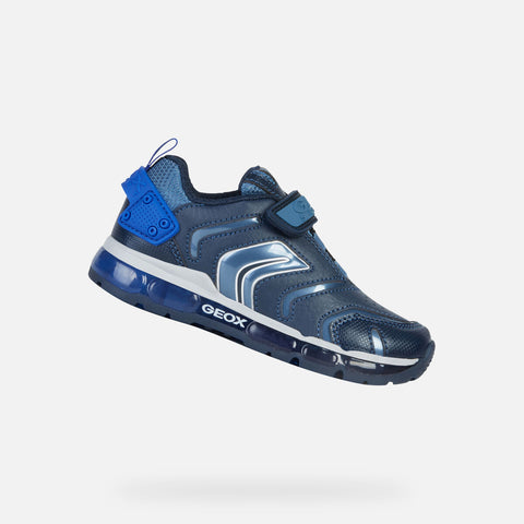Geox Boys Breathable Light Up Running Shoes - Android