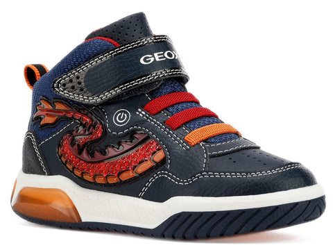 Geox Hightop Running Shoes with Lights and Dragon Tail - Inek