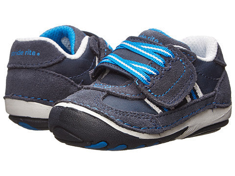 Striderite SRT Soft Motion Hammett Navy Boys Early Walker Shoe