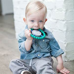 Happy Silicone Teether Ring by Bella Tunno