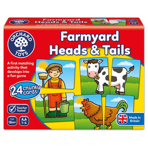 Farmyard Heads & Tails - Orchard Toys First Matching Game Ages 18 months - 4 Years