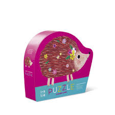 12 Piece Mini Jigsaw Puzzle - Happy Hedgehog