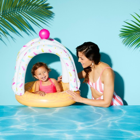 Ice Cream Cone Cutie Lil' Canopy Pool Float by BigMouth Inc