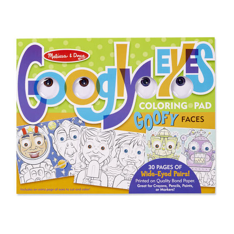 Googly Eyes and Goofy Faces Colouring Pad / Book