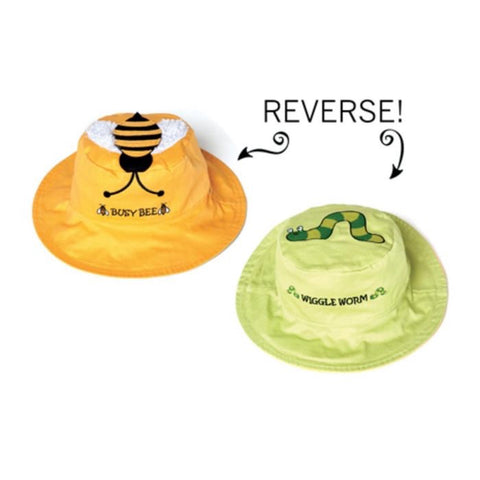 Flapjacks Reversible Sun Hat - Bee/Worm