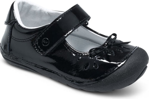 Stride Rite Jane Patent Black Soft Motion Early Walking Dress Shoes