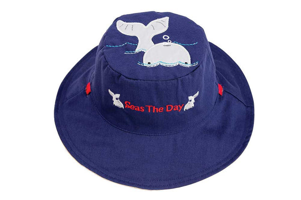 Luvali Lobster / Whale Reversible Sun Hat