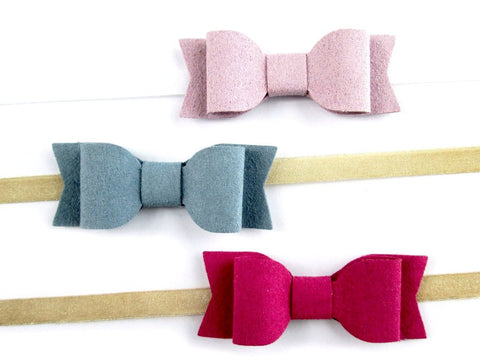 Baby Wisp Headbands - 3 Pack Mia Bows