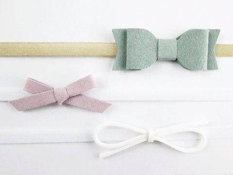 Baby Wisp Headbands - 3 Pack Mixed Bows Gift Set