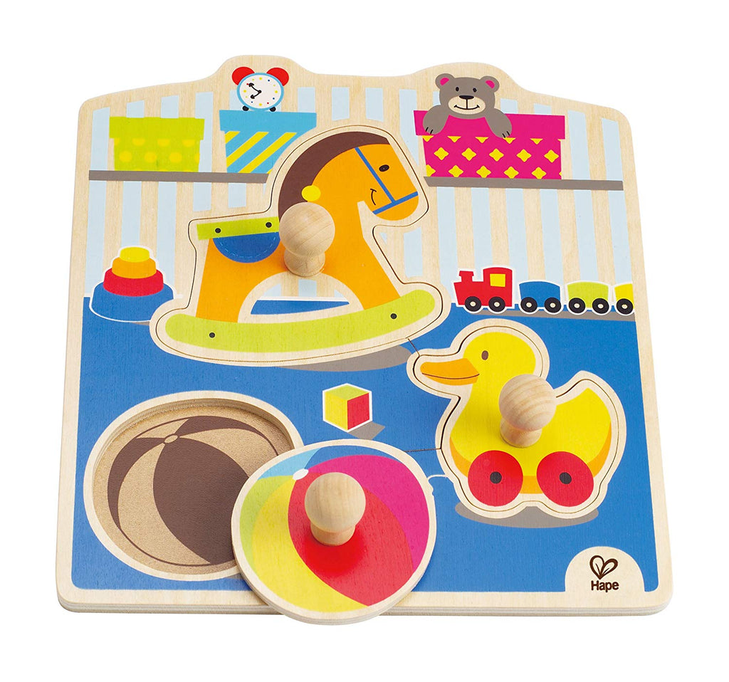 Hape My Toys Wooden Knob Puzzle