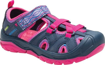 Merrell Hydro Closed Toe Water Friendly Sandal - Pink / Navy