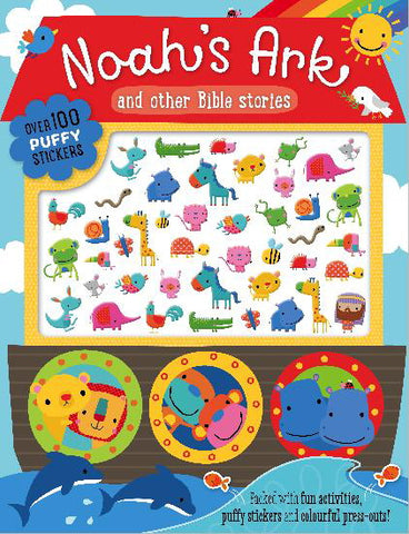 Noah's Ark & Other Bible Stories Activity Book with over 100 Puffy Stickers