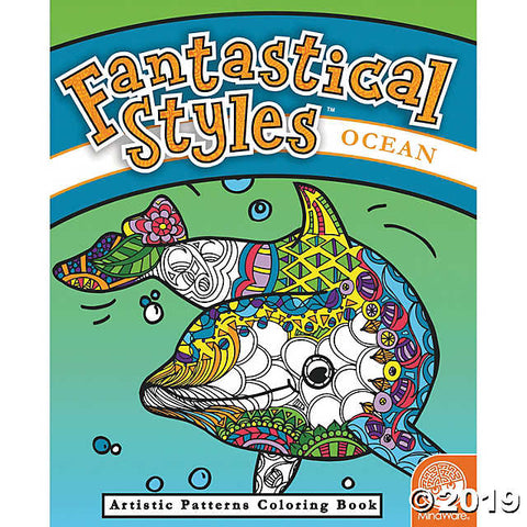 Fantastical Styles - Artistic  Patterns Colouring Book for Ages 6+