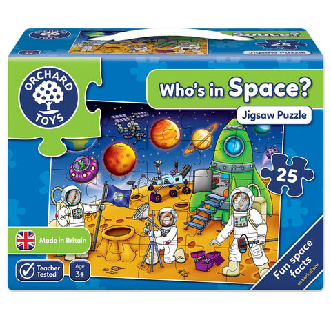 Who's in Space? Talkabout Puzzle by Orchard Toys - 3 Years +