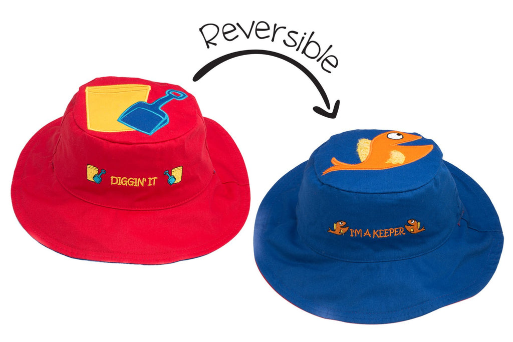 Flapjacks Reversible Sun Hat - Pail / Fish