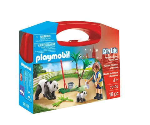 Playmobil City Life - Panda Caretaker Carry Case (70105)