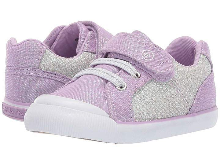 Stride Rite Parker Silver & Purple Running Shoes
