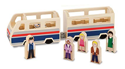 Classic Wooden Passenger Train from Melissa and Doug