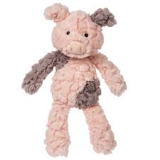 "Mary Meyer Blush Pink Putty Piglet Plush (6"") suitable for Infants"