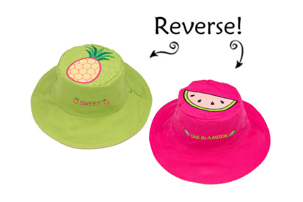 Flapjacks Reversible Sunhat: Watermelon / Pineapple