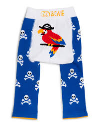 Izzy & Owie Cozy Baby Leggings - Blue Pirate Parrot