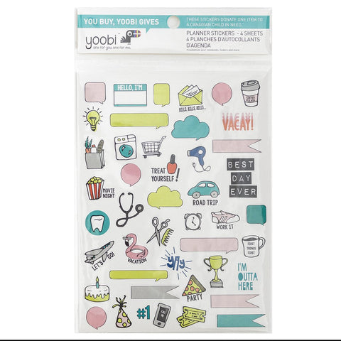 Yoobi - Planner Stickers - 4 pack