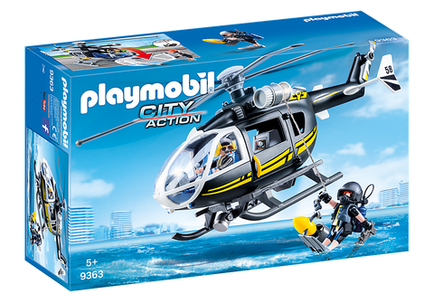 Playmobil City Action 9363- Tactical Unit Helicopter
