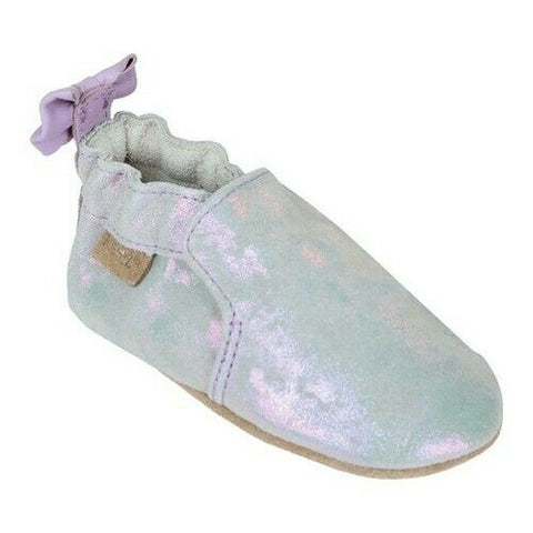 Robeez Soft Sole Infant Shoes - Pretty Pearl Silver Iridescent
