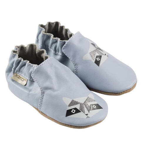 Raccoon Buddies Blue Robeez Soft Sole Shoes