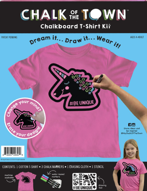 Chalk of the Town Chalkboard T-Shirts - Unicorn