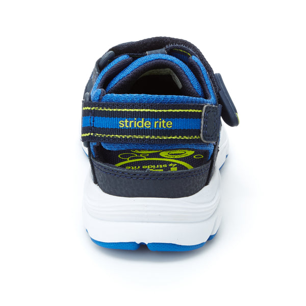 Made 2 Play Stride Rite Ryder Sandal Navy / Royal / Lime