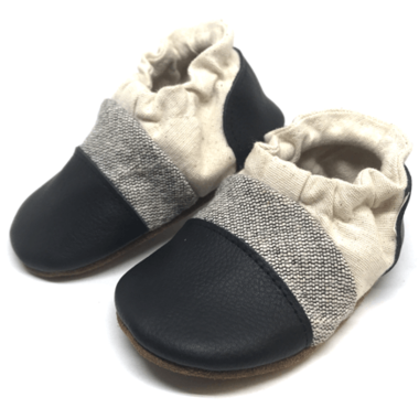 Nooks Design Infant Soft Sole Shoes - Salt & Pepper